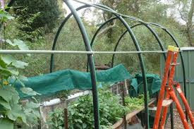a gardener u0027s musings building a shade house from poly pipe