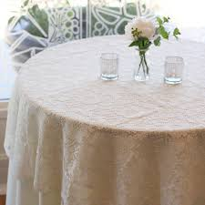 round lace table overlay 60 inches ivory lace tablecloth ivory