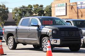 toyota cars and trucks 2018 toyota tundra refresh spied