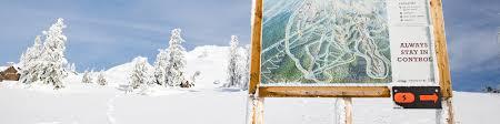 Mt Hood Trail Map Timberline Lodge Ski Area Mt Hood Oregon Trail Map