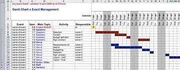 Best Free Excel Gantt Chart Template Planning Your Conference A Gantt Chart