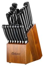 Professional Kitchen Knives Set Professional German Steel Knife Block Set U2014 Elko Home