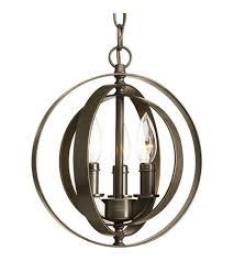 antique bronze pendant light progress p5142 20 equinox 3 light 10 inch antique bronze pendant