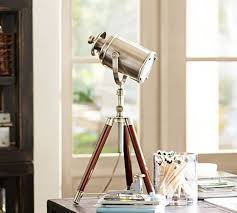 Pottery Barn Floor Lamps with Photographer U0027s Mini Tripod Table Lamp Antique Nickel Finish M