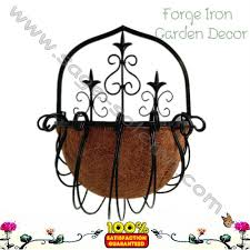 Wrought Iron Wall Planters by Wrought Iron Wall Hanging Basket Planter Buy Wrought Iron Wall