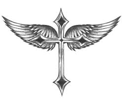 cross angel wing tattoos heart with angel wings tattoo tattoo design pictures