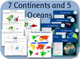 continents and oceans powerpoint by clara5 teaching resources tes