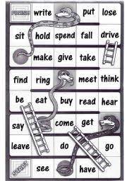 bingo game to consolidate irregular verbs homeschooling