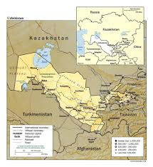 Kabul Map Maps Of Uzbekistan Detailed Map Of Uzbekistan In English