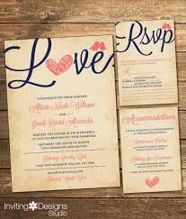Love Bird Wedding Invitations Rustic Wedding Invitation Love Bird Coral And Navy Vintage