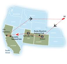 Map San Francisco To Yosemite National Park by Rocky Mountains To Yosemite Amtrak Vacations