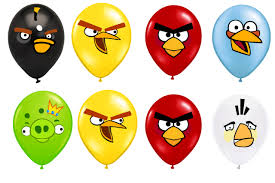 angry birds printable faces balloon stickers partyexpressinvitations
