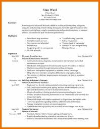 resume for maintenance technician sample building electrical with