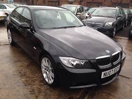 used bmw 3 series uk used bmw 3 series 2007 black paint petrol 320i m sport saloon for