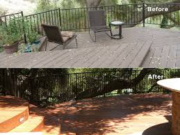 new deck with outdoor fireplace lightning construction