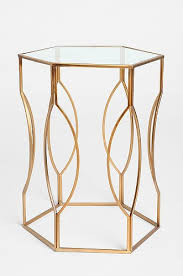 worlds away morocco gold hexagonal side table look 4 less