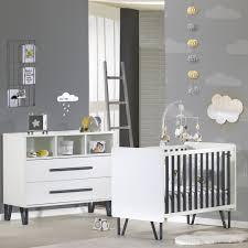 sauthon chambre chambre bébé duo lit commode graphite de sauthon meubles sur allobébé