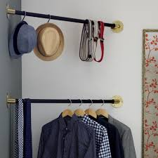 wardrobe racks astounding clothes hanger bar clothes bar for wall