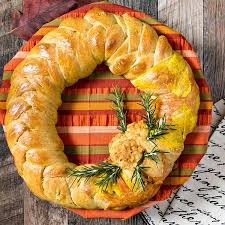 thanksgiving wreath braided bread centerpiece breadbakers