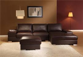 Modern Brown Sofa Impressive On Brown Leather Sectional Sofa Modern New York Brown