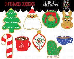 christmas cookie clip art digital clipart printable christmas