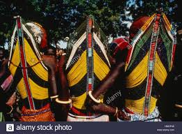 ritual robes three members of the dinka tribe wearing ritual robes kordofan