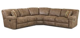 Large Brown Sectional Sofa White Microfiber Seat With Brown Wooden Legs