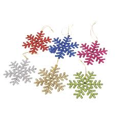 Glitter Snowflake Christmas Tree Decorations by Ornaments Christmas Picture More Detailed Picture About 6pcs