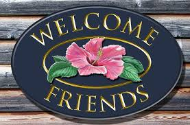 welcome friends welcome sign danthonia designs usa