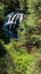 New Mexico waterfalls images Hiking in new mexico clear water creek trail in cimarron state jpg
