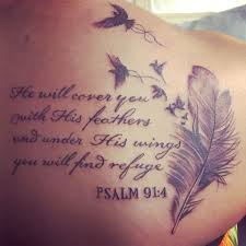 inspiring bible quote on shoulder tattoos