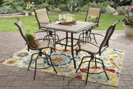 Tall Outdoor Table High Tile Top Patio Table And Chairs Outdoor Room Ideas