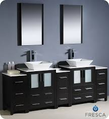 To  Torino Double Vessel Sink Vanity Espresso Bathgemscom - Bathroom vanities double vessel sink