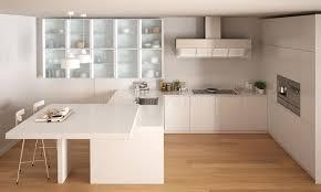 cuisine blanche parquet cuisine blanche minimale classique avec le plancher de parquet