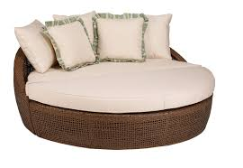 furniture round white chaise lounge cushions