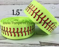 softball ribbon softball ribbons etsy