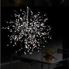 modern pendant light fixture beaded floral suspension light for