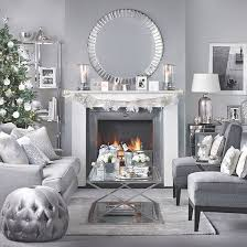 silver living room furniture silver and grey christmas living room christmas living rooms