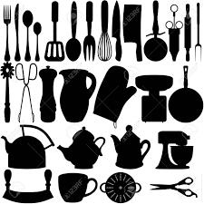 objets de cuisine silhouettes isolées de cuisine des objets banque d images et