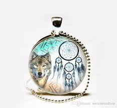 wolf necklace pendant images Wholesale wholesale dreamcatcher necklace wolf necklace jpg
