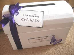 purple guest book purple butterfly wedding post box and matching guest book