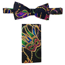 mardi gras bow tie mardi gras ties cummerbunds cuff links stud sets