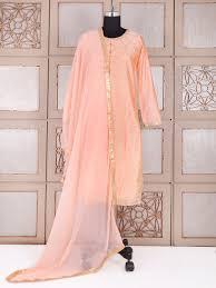 peach color silk festive wear plazo suit in peach color g3 wss22897