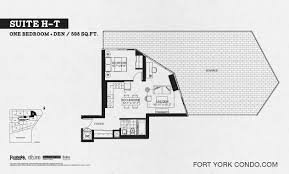 1 Bedroom Condo Floor Plans by Garrison Point Condos Preconstruction Fort York Condo