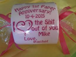 paper anniversary gifts for husband happy 1st paper anniversary embroidered toilet paper gift custom