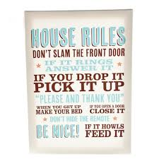 house rules home u203a homeware u203a wall signs u0026 plaques u203a house rules