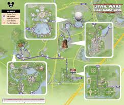 Disney World Monorail Map by Star Wars Half Marathon The Dark Side Running At Disney