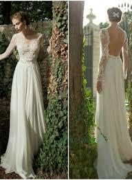lace top wedding dress jol221 sheer lace top backless sleeved wedding dress