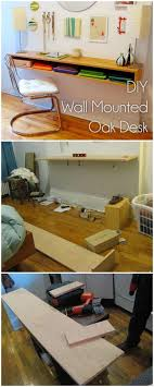 Diy Wall Desk 40 Easy Awesome Diy Desks You Can Build On A Budget