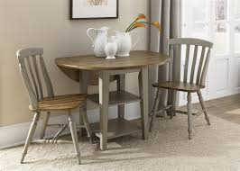 bedroom table ls set of 2 fresco drop leaf leg table 3 piece dining set in driftwood taupe